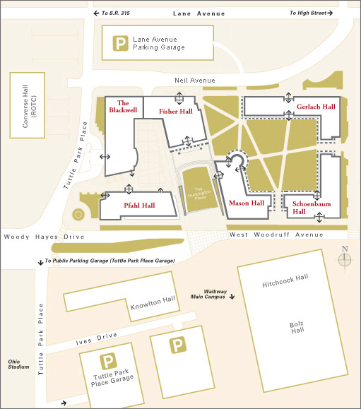 Fisher campus map