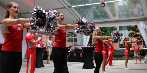 Pre-Game at Fisher cheerleaders