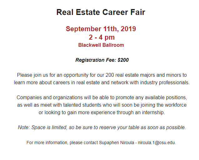 Career fair invite