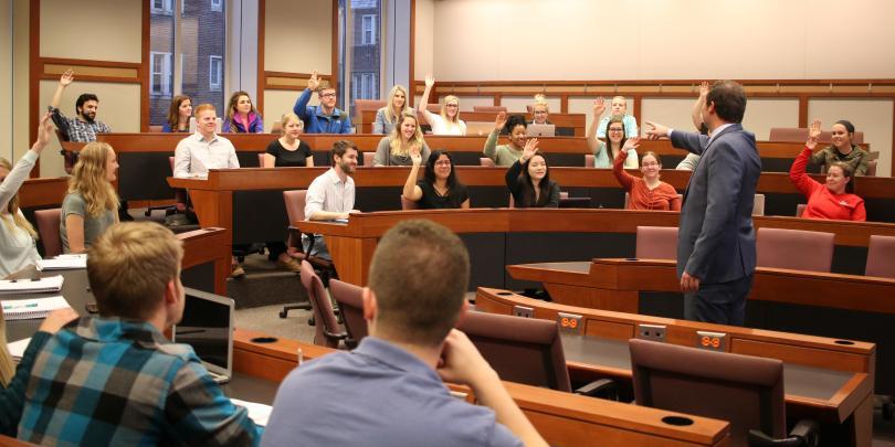 Faculty member Ty Shepfer teaching a class