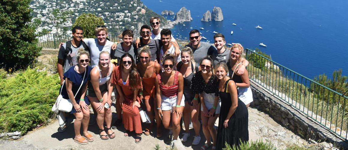 Students participating in global internship program