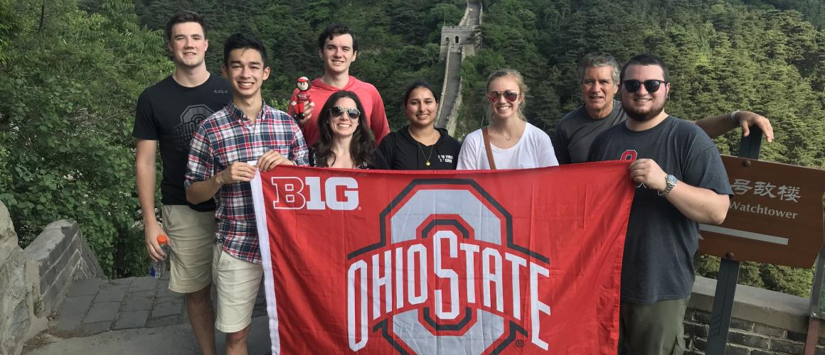Ohio State Students on Great Wall of China