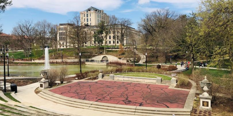 View of OSU campus in spring
