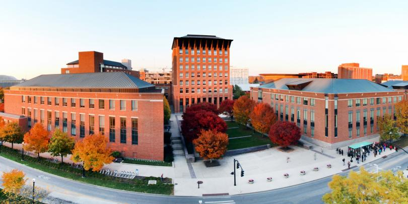 Panoramic shot of the Fisher College of Business campus