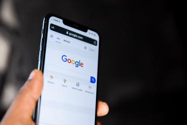Image of Google on a smartphone