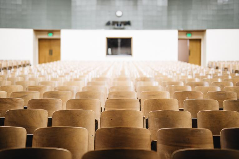 Seats in a lecture hall