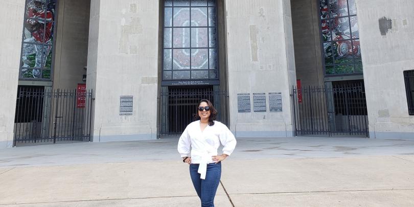 Carmen Lopez-Ramirez at Ohio Stadium