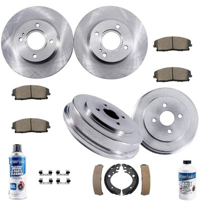 Front Disc Brake Rotors Rear Drums & Pads | Honda Civic