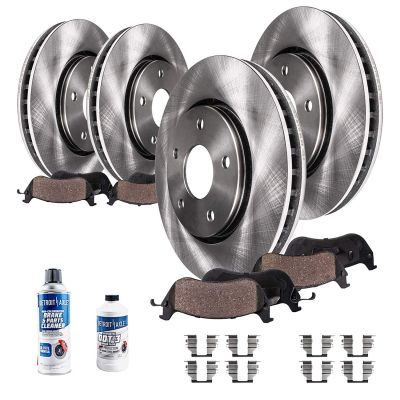 10pc Front & Rear Brake Rotors + Ceramic Pads Kit for Infiniti FX35 FX45