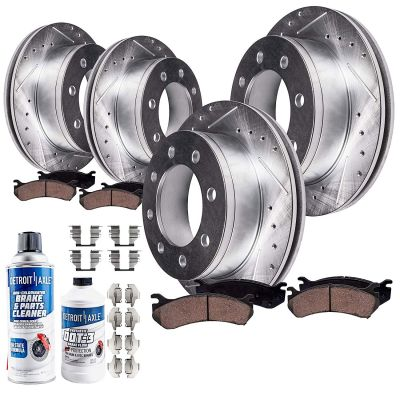 Front + Rear Drilled & Slotted Disc Brake Rotors Kit for 00-02 Dodge