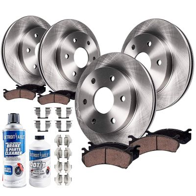 Front and Rear Brake Rotors and Pads Kit - SINGLE PISTON CALIPER VERSION