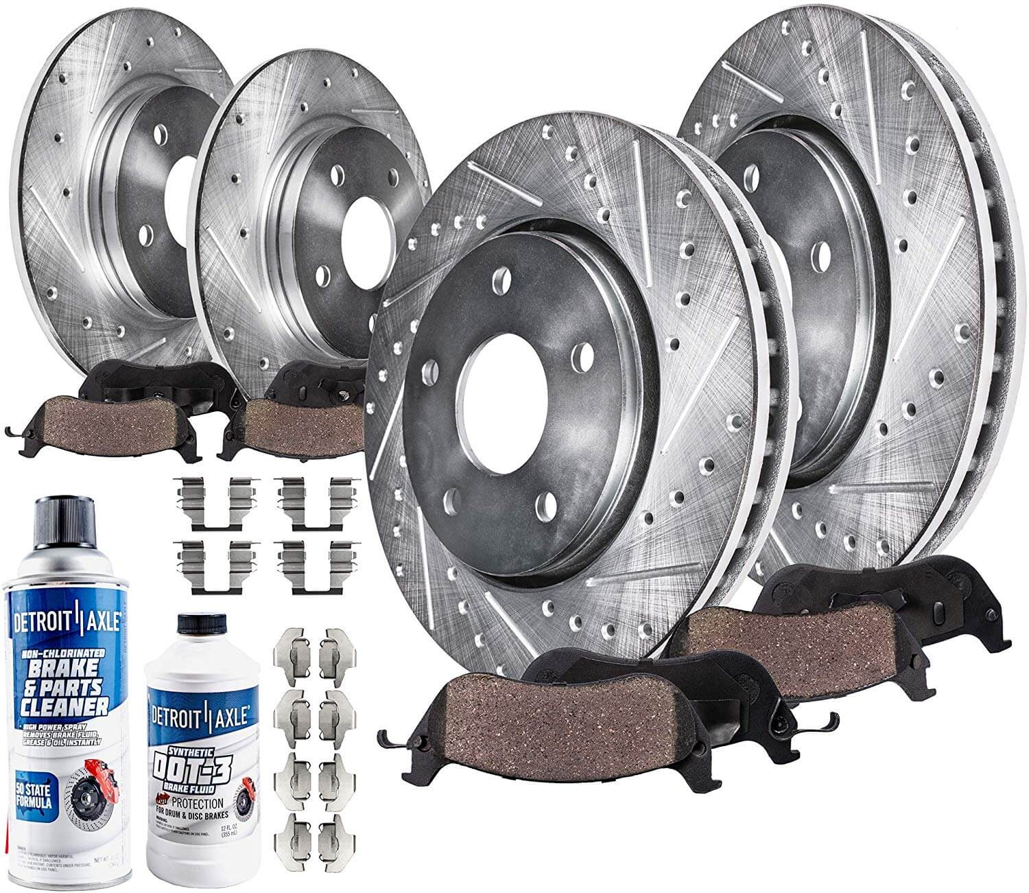 2007 2008 2009 For Lexus RX350 Coated Rear Disc Brake Rotors and Ceramic Pads