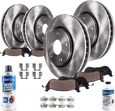 Front Rear Disc Rotors and Brake Pads Kit for 13 - 16 Ford Escape C-Max