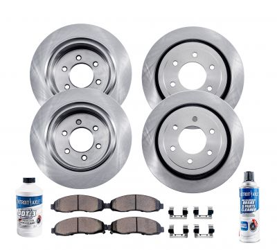 10pc Front & Rear Brake Rotors + Ceramic Pads for Hummer H3 H3T