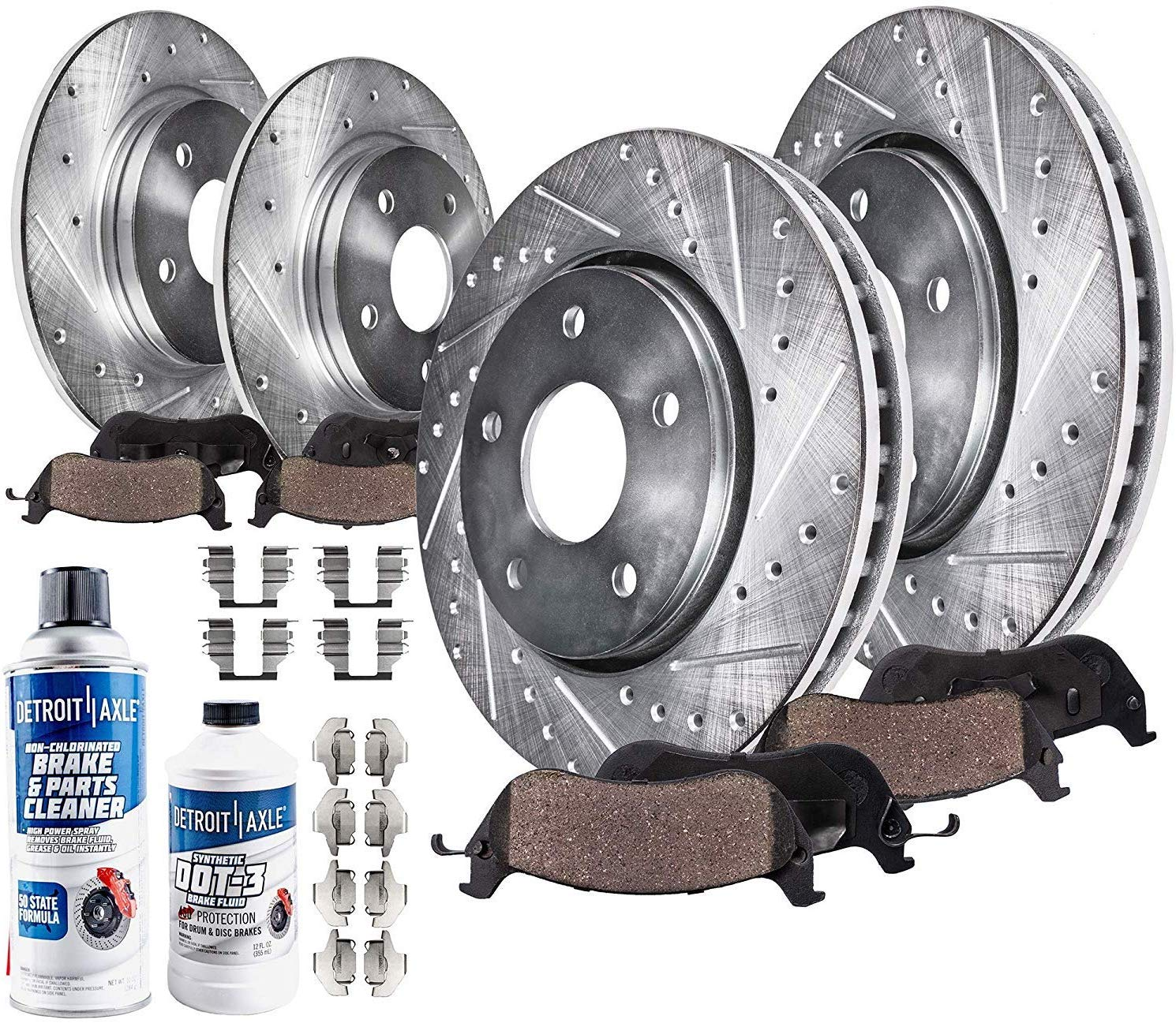 Front Rear Disc Brake Rotors And Ceramic Pads Kit For Nissan Rogue Select