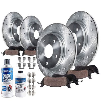 277mm Front & 286mm Rear Brake Rotors and Pads Kit for Subaru Impreza BRZ - Drilled and Slotted