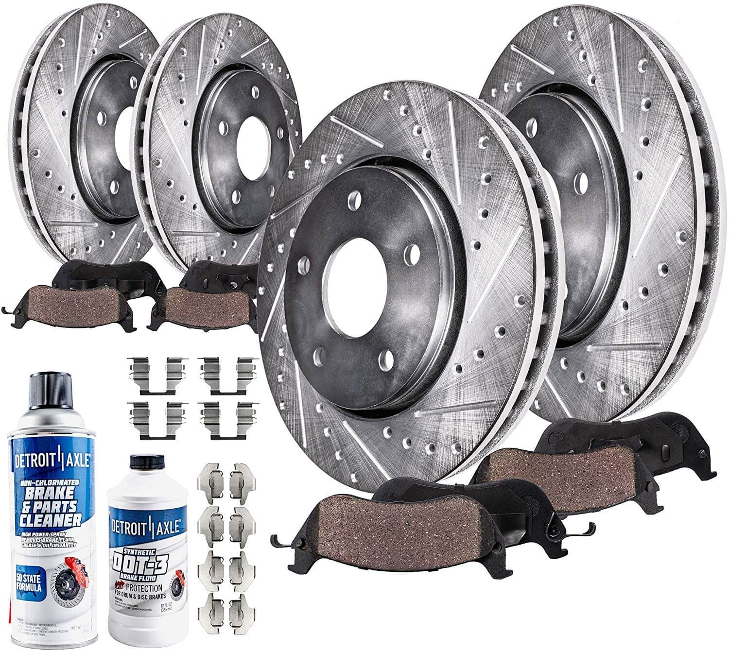 2000 2001 for Nissan Altima Brake Rotors and Ceramic Pads Rear