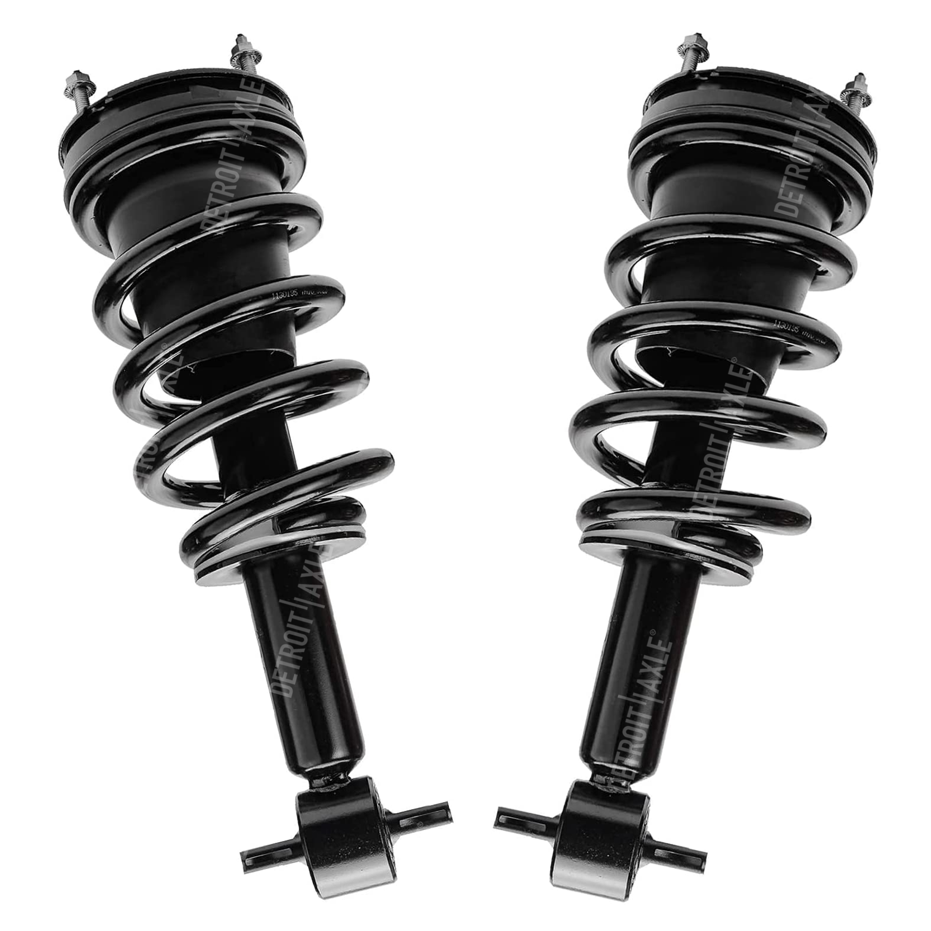 Pair (2) Front Left and Right Ready Strut w/Coil Spring Assemblies - for 2007-2011 Chevrolet & GMC Silverado Sierra 1500 - EXCLUDES ELECTRONIC SUSPENSION AND LIFT KITS