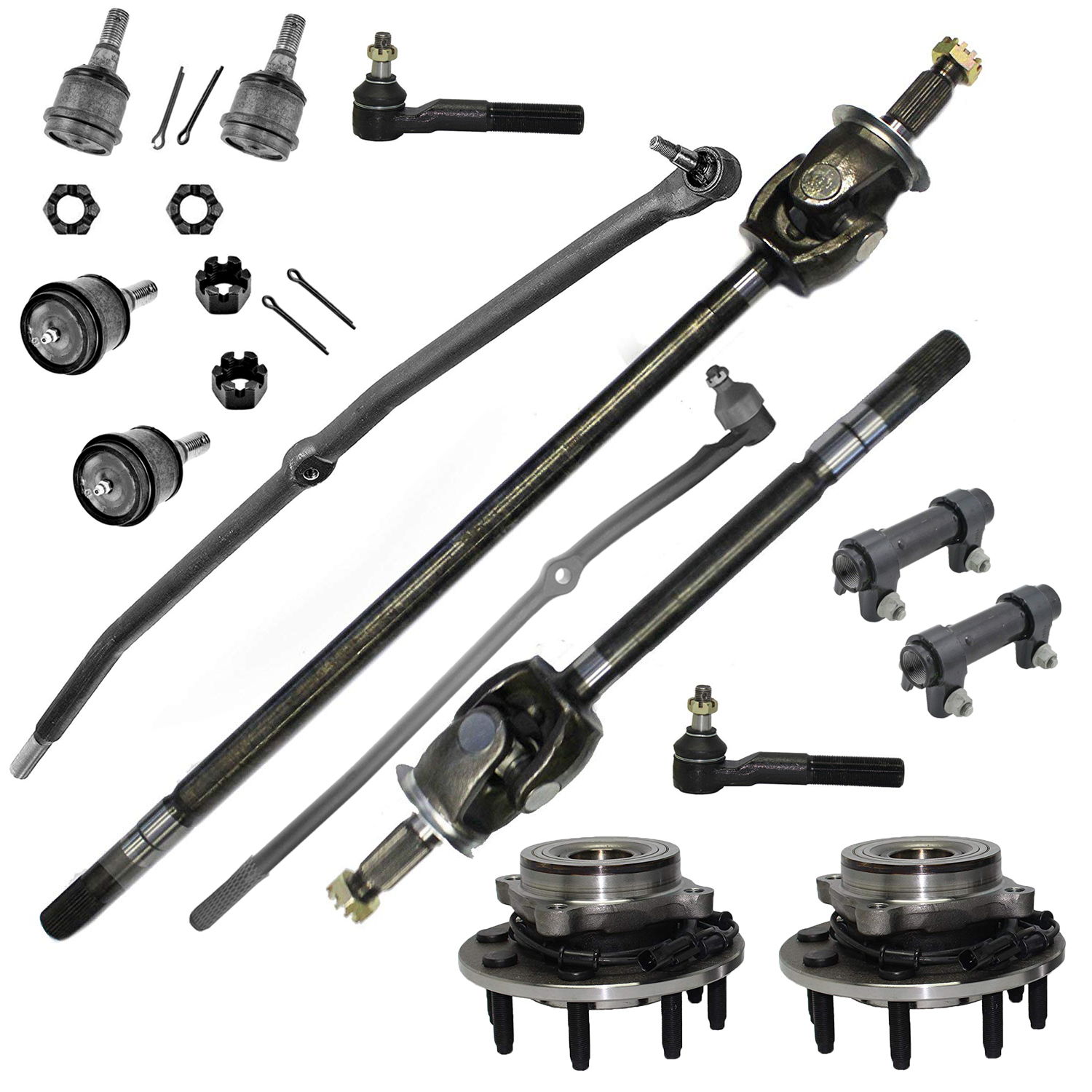 14pc Front CV Axle Shafts Kit for 06-07 Dodge RAM 2500 3500
