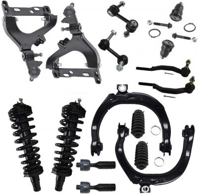 16pc Complete Front Suspension Kit for 2002 Chevy Trailblazer GMC 14mm Tie Rods