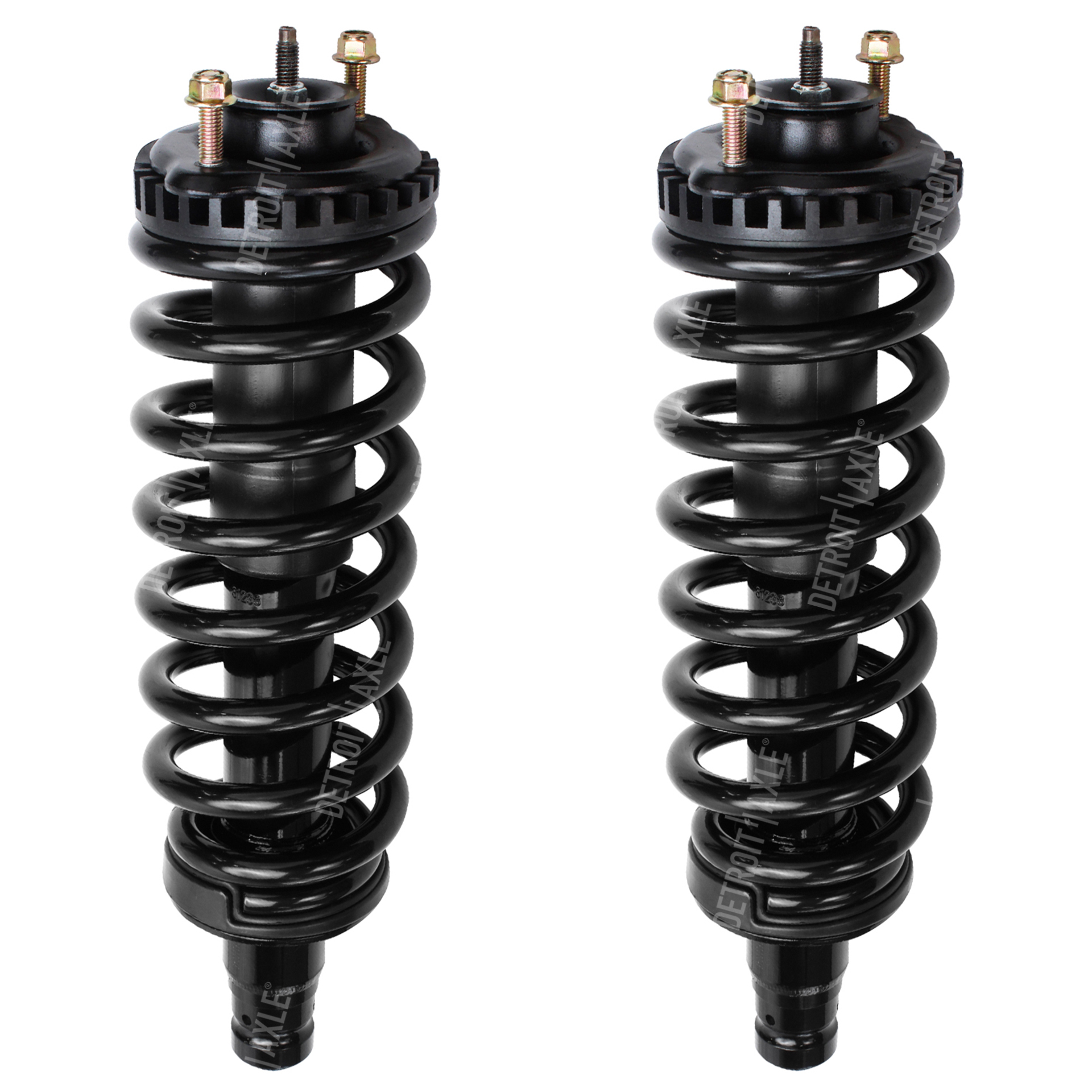 Pair (2) Front Left and Right Ready Strut w/Coil Spring Assemblies - for Chevrolet & GMC Envoy Trailblazer
