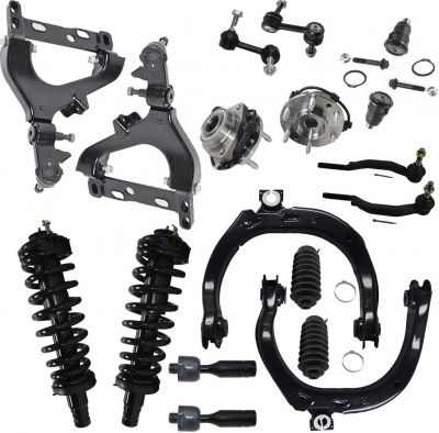 18pc Front Suspension Kit - 02 Chevy GMC - 14mm Tie Rods