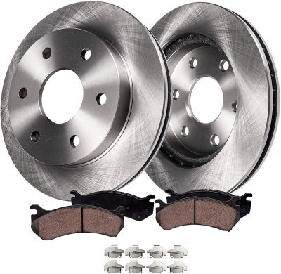 Rear Disc Brake Rotors + Ceramic Pads | Buick Chevy GMC Saturn Models