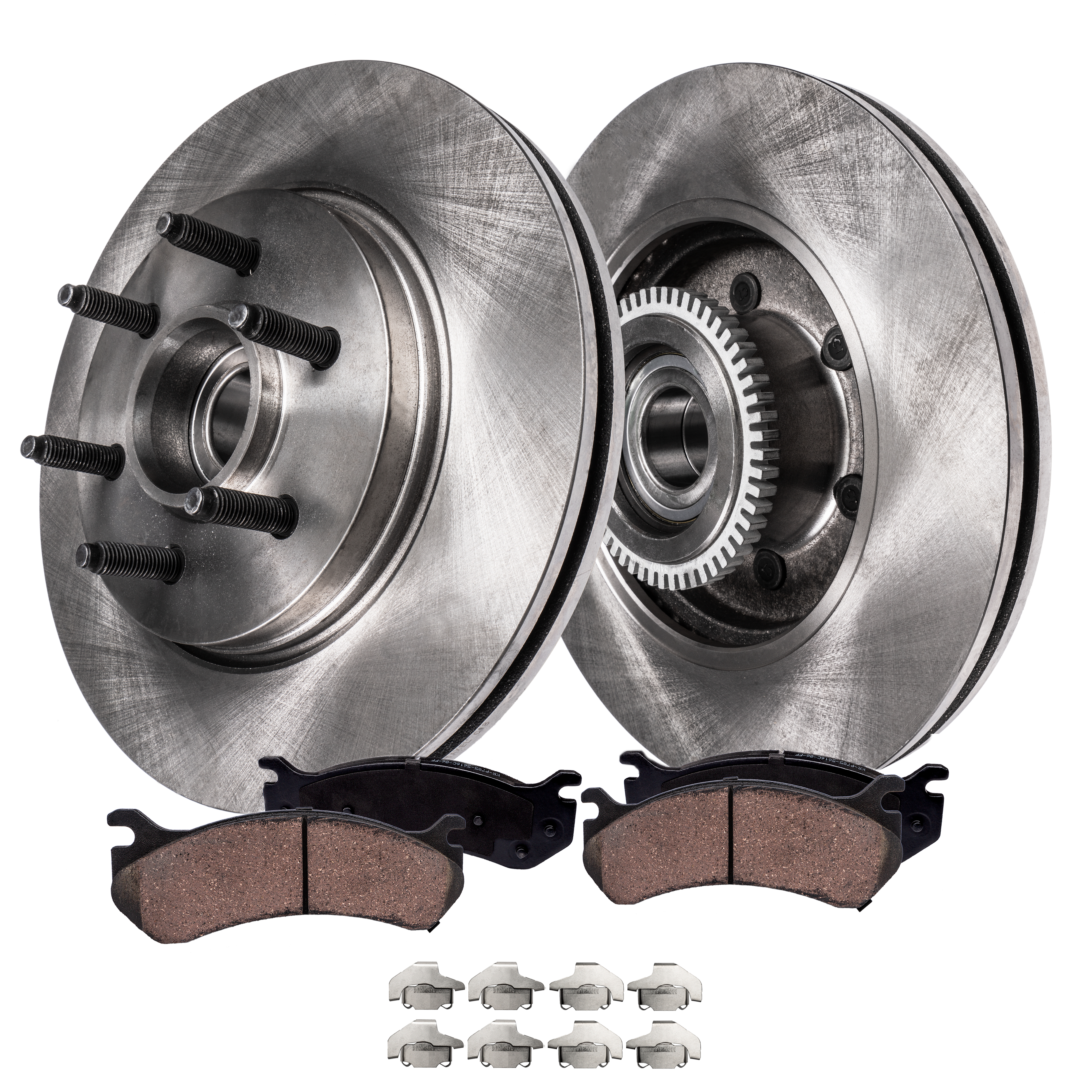 - 2WD 6 Lug Only All 2006-2008 Lincoln Mark LT Detroit Axle Front and Rear Drilled and Slotted Disc Brake Kit Rotors for 2004 2005 2006 2007 2008 Ford F-150 - 4