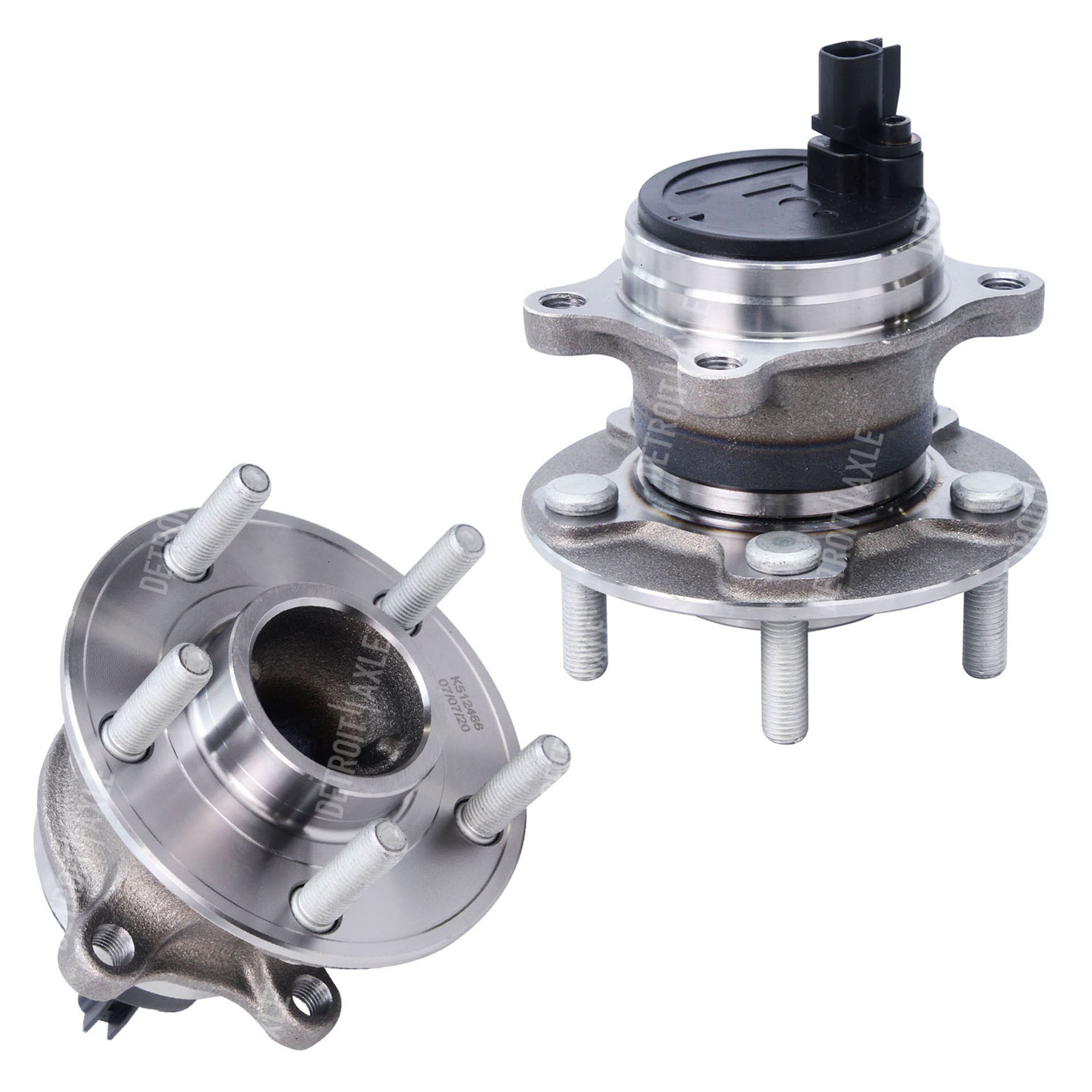 2PC Rear Wheel Bearing Hub Kit for Models Without Active Park Assist