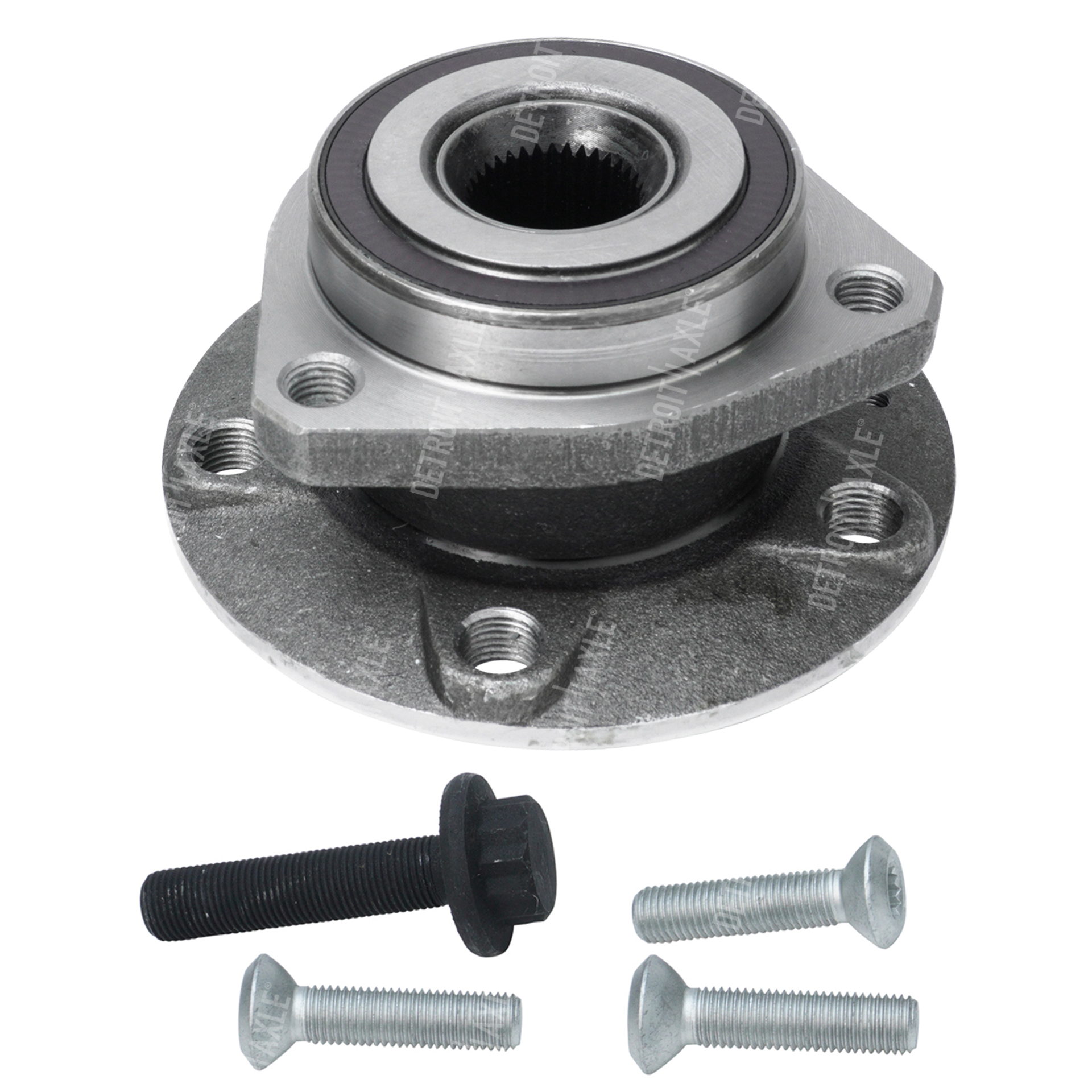 Front Wheel Hub and Bearing Assembly - Driver or Passenger Side