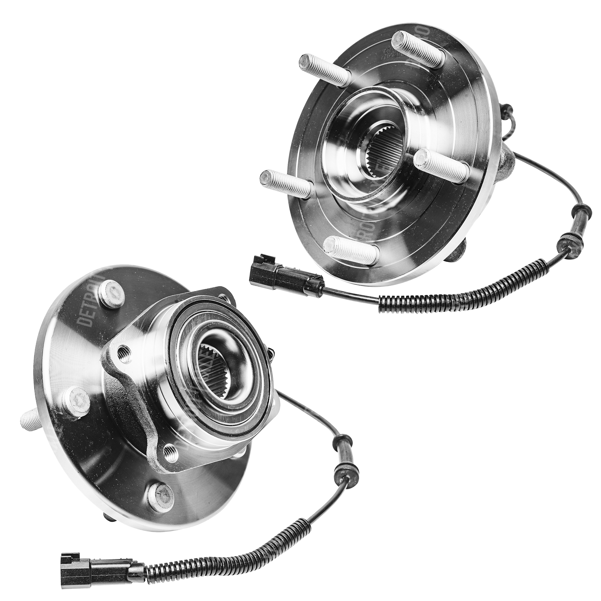 Both (2) Front Wheel Hub and Bearing Assembly 5 lug w/ABS ? Driver and Passenger Side - For 2008-2016 Chrysler Town & Country - [2008-2016 Dodge Grand Caravan] - 2009-2012 Volkswagen Routan