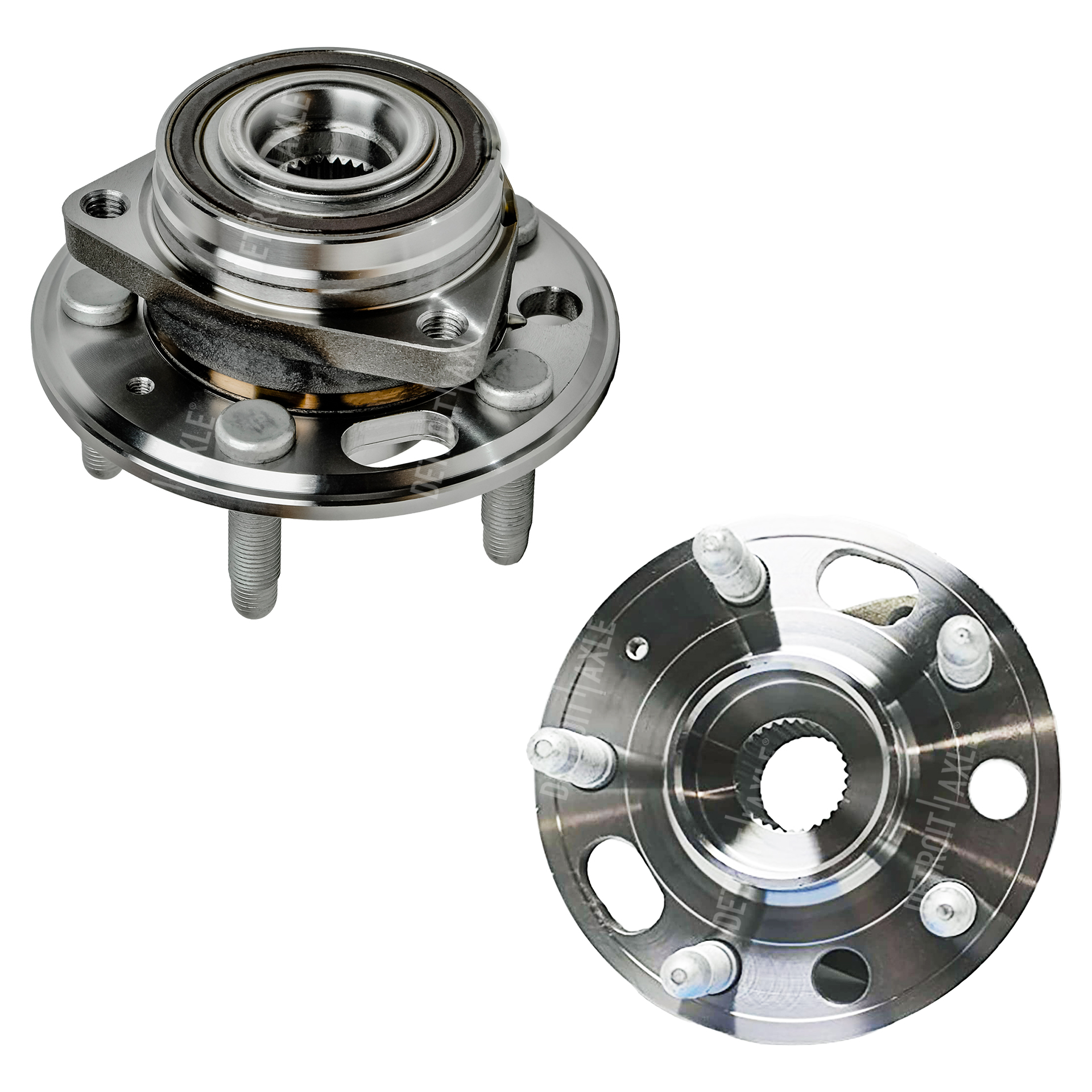 Front Wheel Bearing and Hub Assembly Pair 5 LUG w/ABS