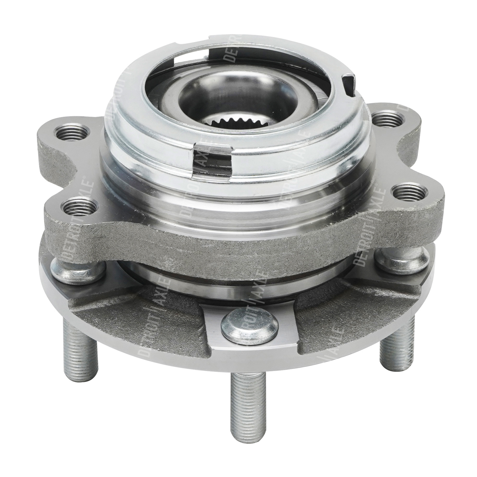 Front Wheel Hub And Bearing Assembly Driver Or Passenger Side Fits 3 5l W Abs Detroit Axle