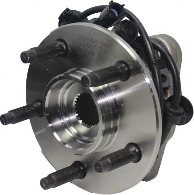 Front Wheel Hub and Bearing - 4-Wheel ABS, 4WD - Driver or Passenger Side
