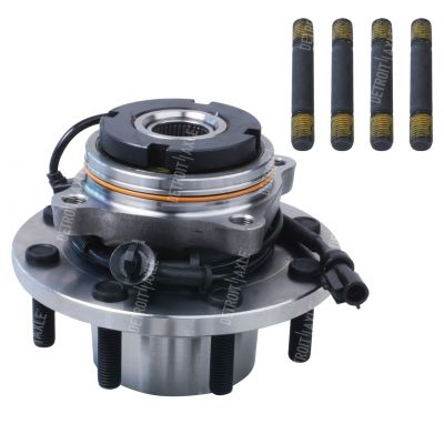 Front Wheel Hub and Bearing - 4-Wheel ABS, 4WD, DRW - Driver or Passenger Side