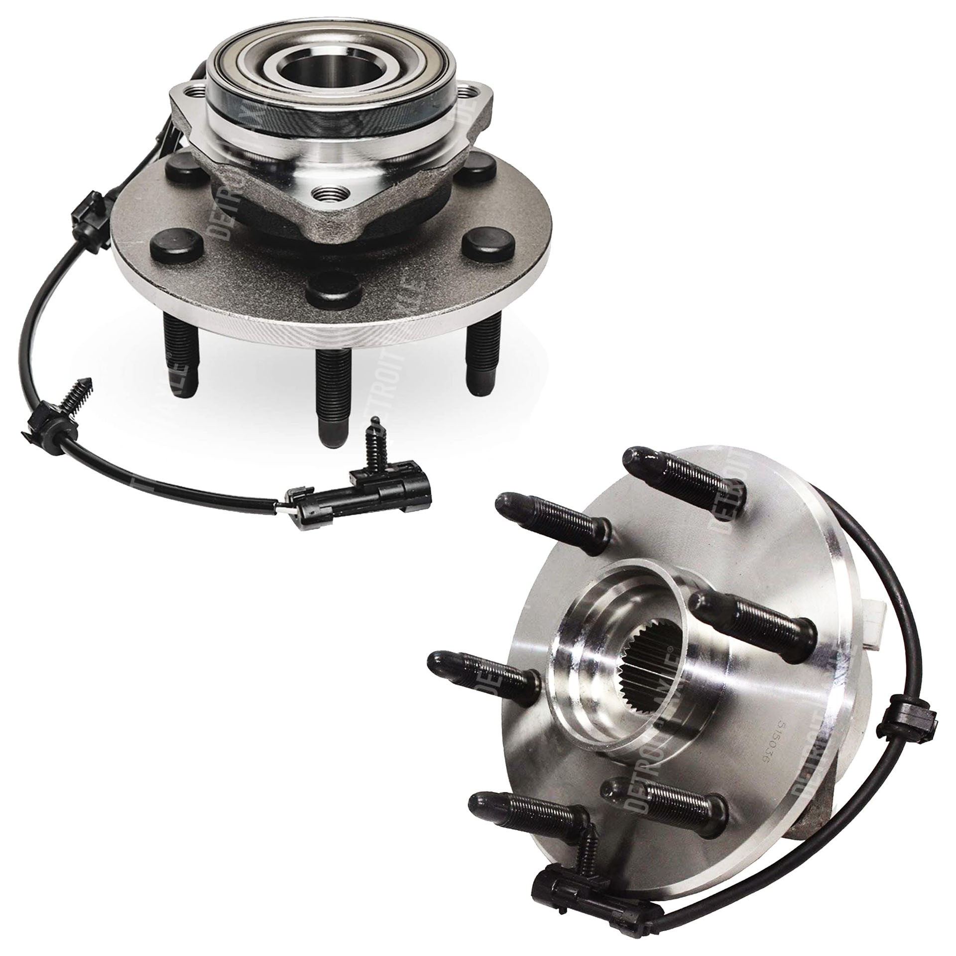 4WD Front Wheel Bearing and Hub Assembly fits 6-Lug w/ABS
