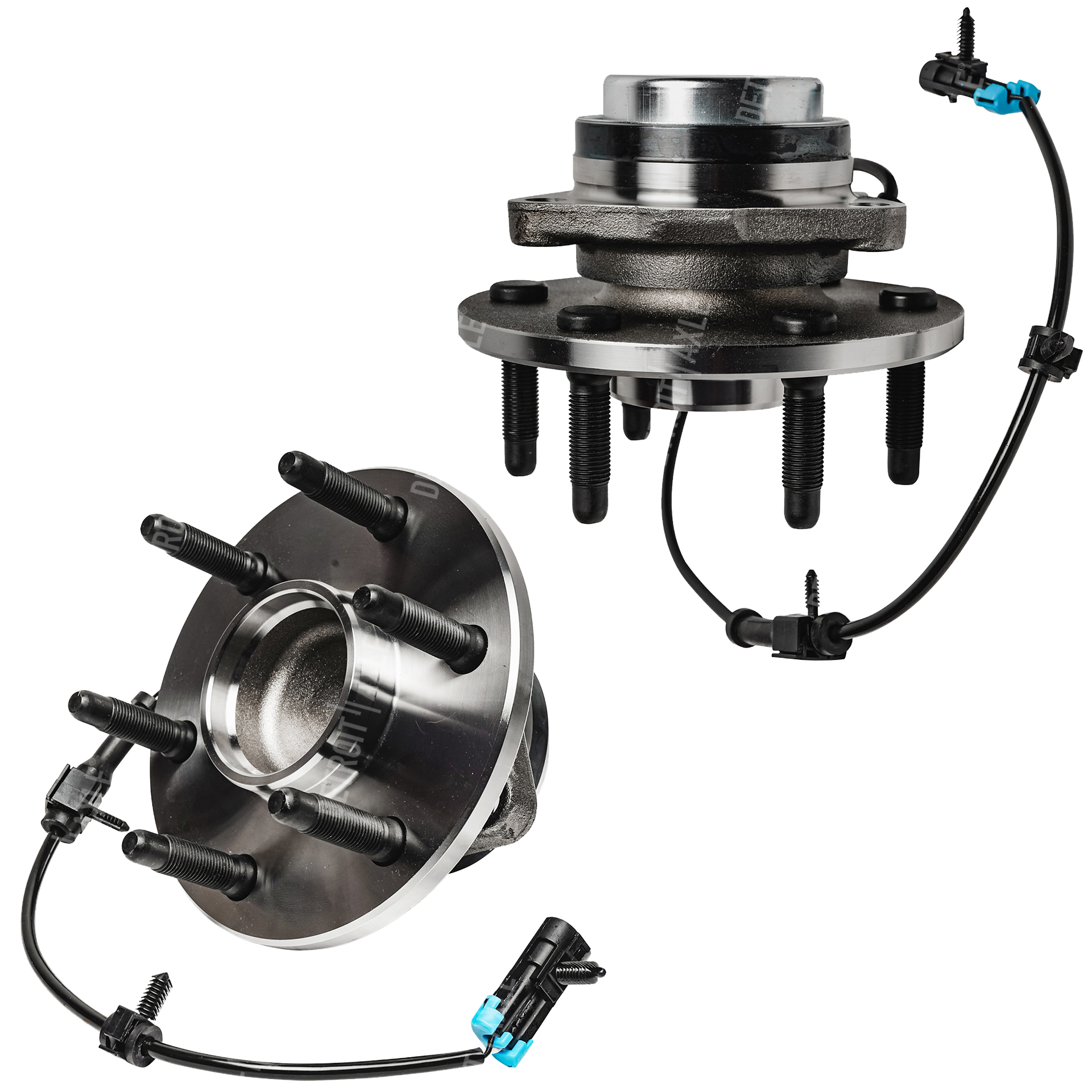 Both (2) 2WD w/ABS Front Wheel Bearing and Hub Assembly ? Driver or Passenger Side for - 6 Lug 2WD Only 2000-2006 Silverado 1500, Sierra 1500