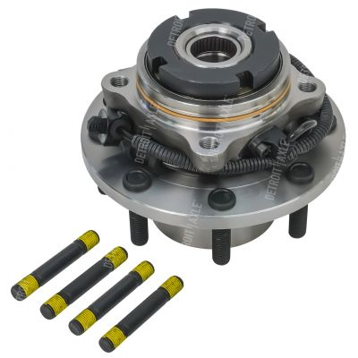 Front Wheel Bearing and Hub - 4-Wheel ABS, 4WD, Dual Rear Wheel - Driver or Passenger Side