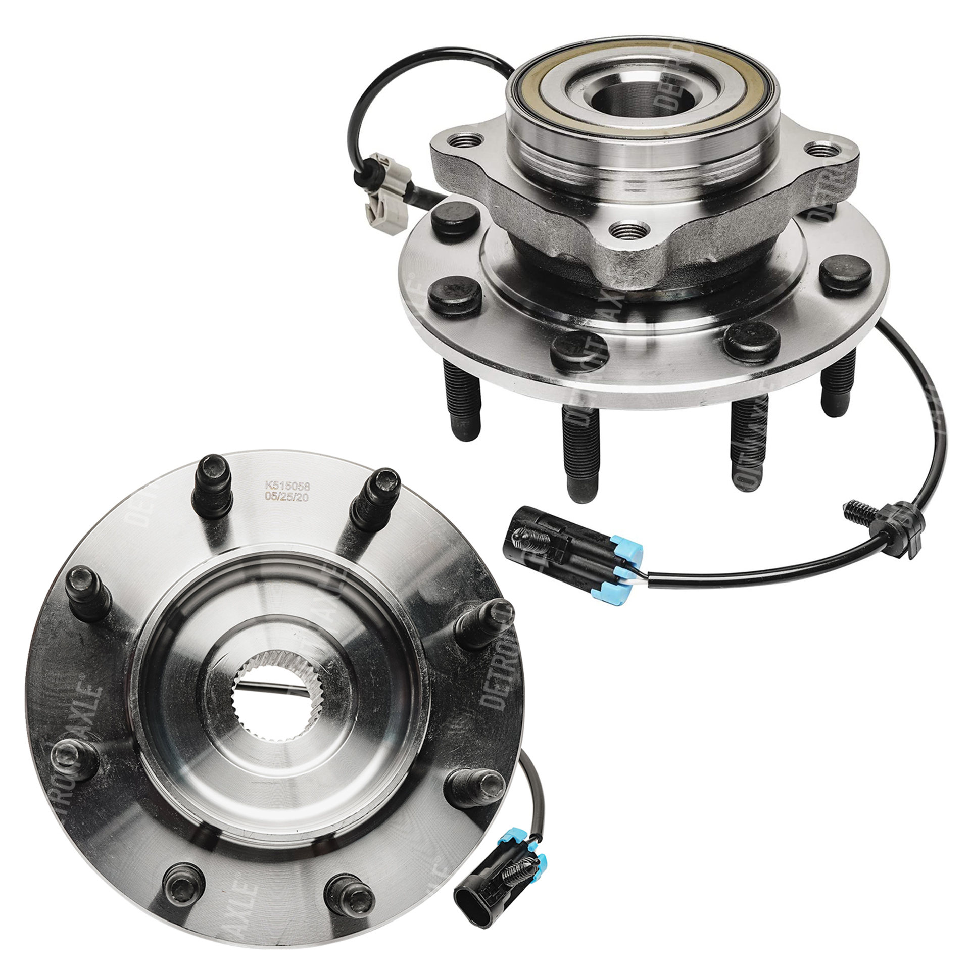 Both (2) 8 LUG w/ABS Front Wheel Bearing and Hub Assembly ? Driver or Passenger Side For 4WD 4x4 ONLY - Silverado 2500 3500 , Sierra 2500 3500
