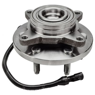 Front Wheel Bearing and Hub - Sport Utility, 4-Wheel ABS, RWD - Driver or Passenger Side