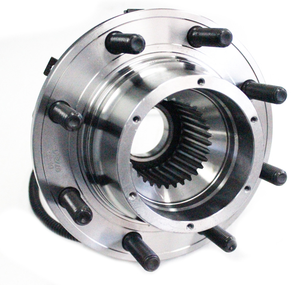 Front Wheel Hub and Bearing Assembly - Driver or Passenger Side fits 4x4 Only - DRW, Wide Body Only