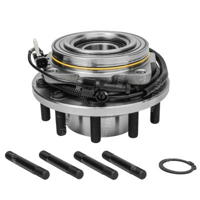 Front - Wheel Hub and Bearing Assembly - 10-LUG - 4x4 Only