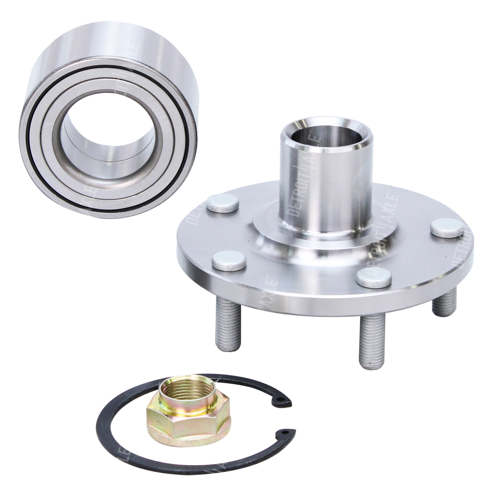 Front Wheel Hub and Bearing Assembly - Driver or Passenger Side - Detroit  Axle