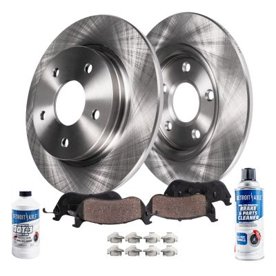 Rear Brake Pads and Rotors Kit for 2.4L FWD
