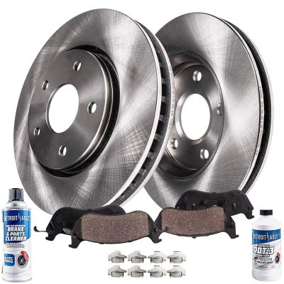 Rear Disc Brake Rotors and Ceramic Brake Pad Complete Kit