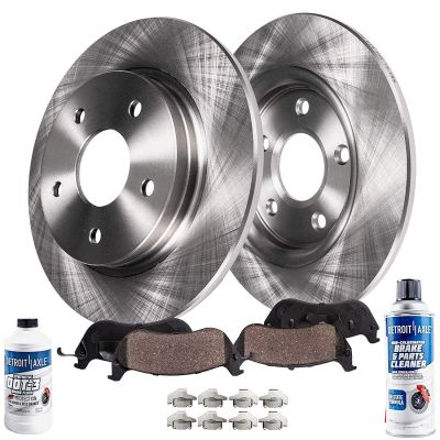 6pc REAR Brake Rotors Ceramic Pads for Buick Chevrolet Cadillac