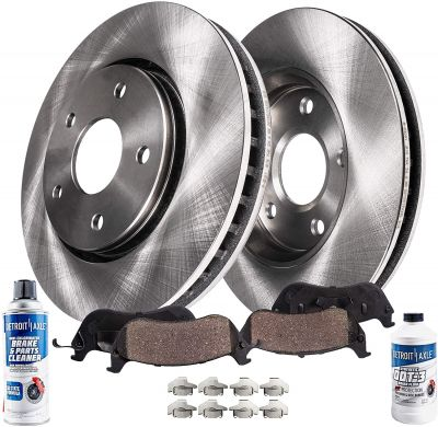 Rear Disc Brake Rotors w/Ceramic Pads for Toyota Tundra Lexus LX570