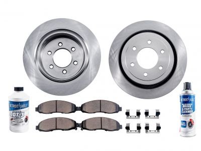 6pc Rear Disc Brake Rotors & Ceramic Pad Kit for Hummer H3 H3T