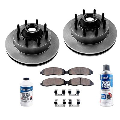 Front Brakes Rotor and Pad Kit for 2WD No-Front ABS   SRW F-350