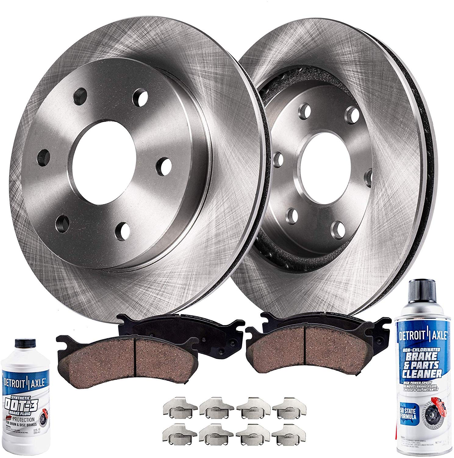 Note: 6 Mounting Holes 2016 For Ford F-150 Front Disc Brake Rotors and Ceramic Brake Pads